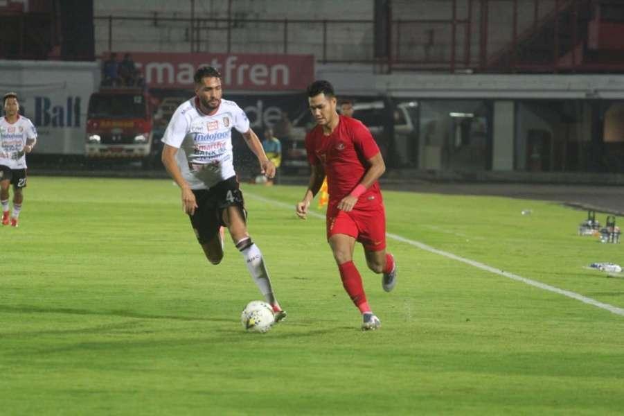 Timnas U-23 Bermain Imbang dengan Bali United