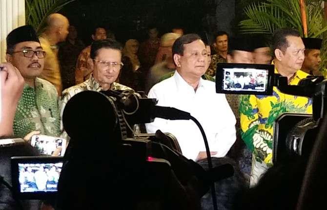 Prabowo: Mungkin Ini Pimpinan MPR Terbaik